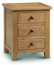 Marlborough Oak 3 Drawer Bedside Chest